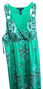 INC International Concepts short dress Green paisley on Tradesy