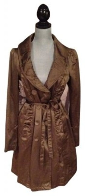 Preload https://item4.tradesy.com/images/dkny-brown-rouched-satin-trench-coat-size-12-l-33748-0-0.jpg?width=400&height=650