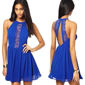 short dress Blue on Tradesy