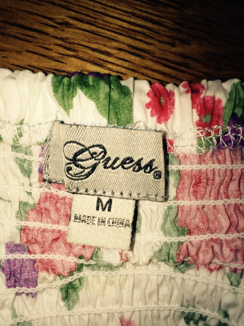 Guess Top white w/flowers