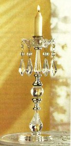 12 Vintage Crystal Candle Holders