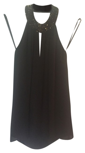 Rachel Zoe Halter Girls Top Black