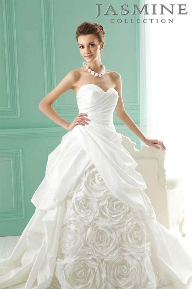 Jasmine bridal white taffeta with tags f141001 formal wedding dress jasmine bridal white taffeta with tags f141001 formal wedding dress size 8 m junglespirit Gallery