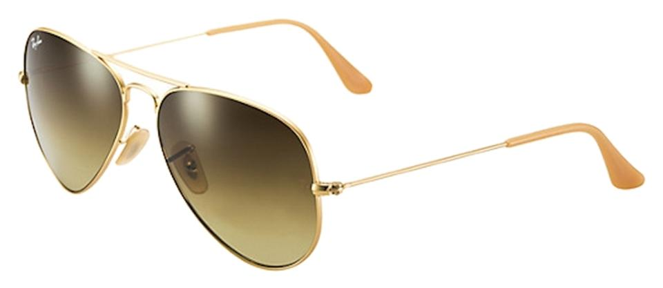 bbee16bc293ac Ray-Ban Ray Ban Aviator RB3025 Sunglasses 112 85 Matte Gold With Brown  Gradient ...
