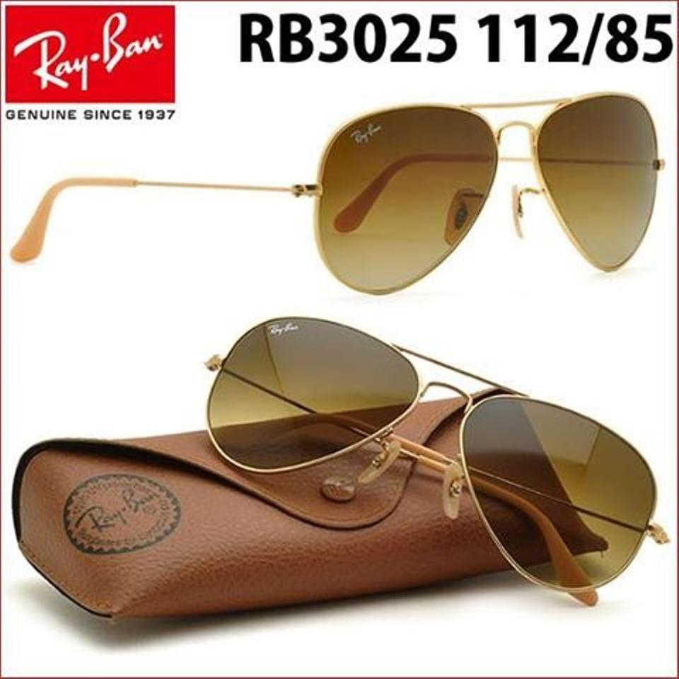 9a7ab748254da ... Ban Aviator RB3025 Sunglasses 112 85 Matte Gold With Brown Gradient. 12