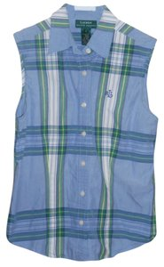 Ralph Lauren Preppy Prep Summer Button Down Shirt