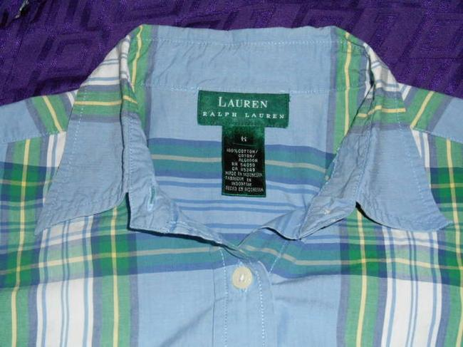 Ralph Lauren Preppy Prep Summer Dress Casual Button Down Shirt