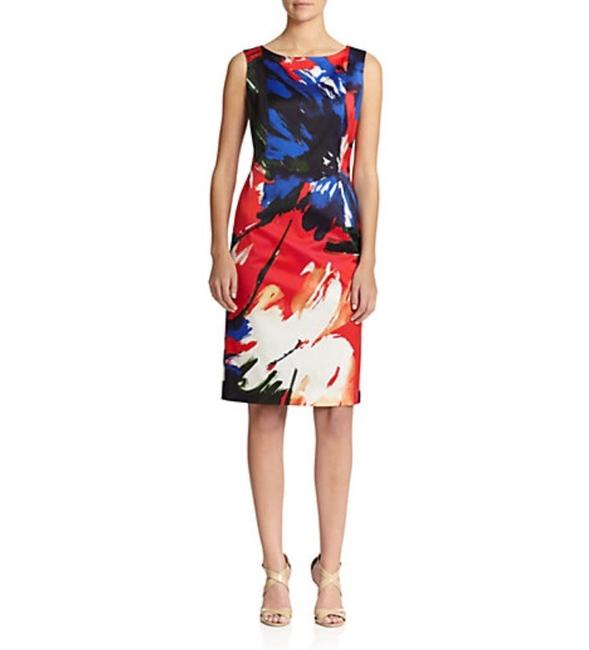Lafayette 148 New York Knee Length Wear To Classic Bright Pencil Fitted Comfortable Party Night Out Chic Dress