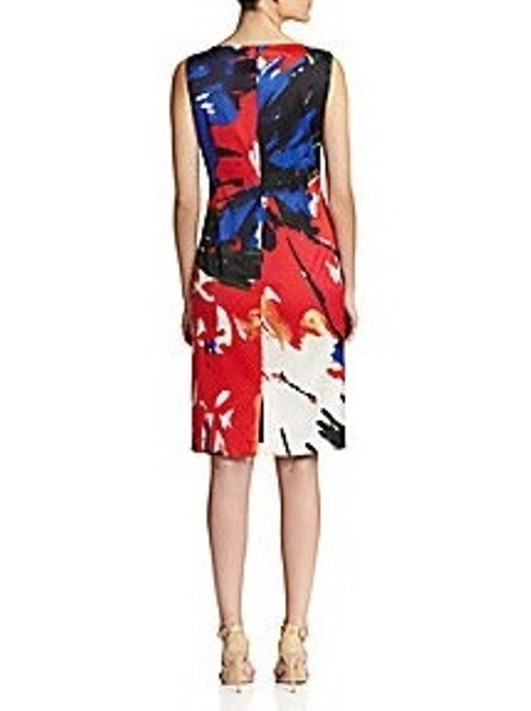 Lafayette 148 New York Floral Office Knee Length Wear To Classic Bright Pencil Fitted Comfortable Party Night Out Chic Dress