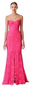 Monique Lhuillier Gown Lace Strapless Sweetheart Dress