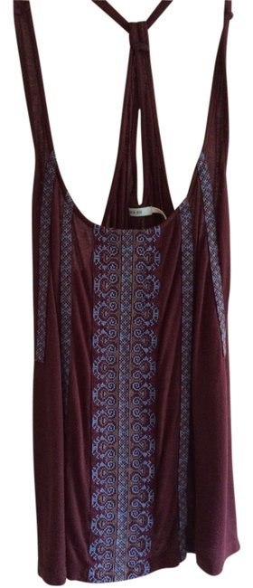 Preload https://item5.tradesy.com/images/kimchi-blue-maroon-crisscross-strap-embroidered-flowy-tank-topcami-size-4-s-3376489-0-0.jpg?width=400&height=650