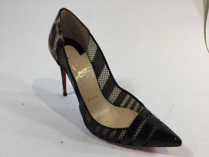 Christian Louboutin Black/Leopard Pumps