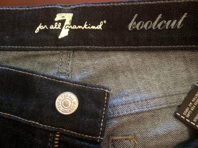 7 For All Mankind Dark Rinse Size 28 Boot Cut Jeans-Dark Rinse