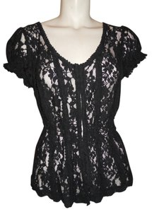 Max Rave Lace Sexy Top black