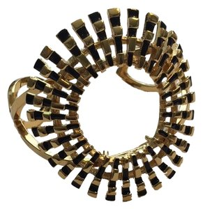 Trina Turk Trina Turk Sunburst Gold and Black Cuff Bracelet