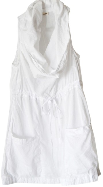 LAmade White Cowl Neck Cotton Tie Front Tunic