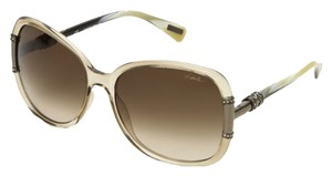 Lanvin NEW Lanvin Sunglasses Square Gold Brown Eyewear