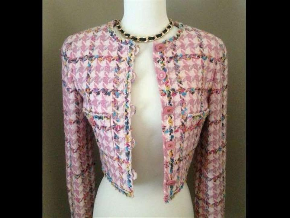 Chanel Pink Tweed Boucle Cropped Size 2 (XS) - Tradesy