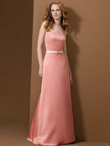 Alfred Angelo Shrimp W/ Peach Fizz Band Style 6475 Dress