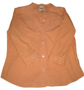 Talbots Button Down Shirt Orange