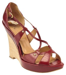 Max Mara Red Wedges