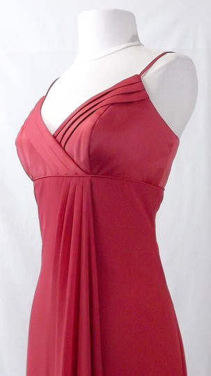 Alfred Angelo Spice Satin & Chiffon Style 6544 Formal Bridesmaid/Mob Dress Size 10 (M)