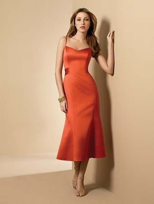 Item - Persimmon Satin Style 6542 Casual Bridesmaid/Mob Dress Size 6 (S)