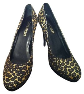 Colin Stuart Stiletto Glitter Cheetah Print Pumps