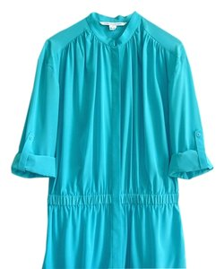 Diane von Furstenberg short dress turquoise Shirt Blue on Tradesy