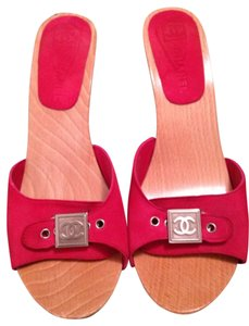 Chanel Hot Pink Sandals