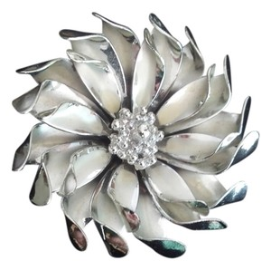 Other Vintage Coro Silver Flower Brooch Pin