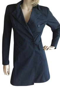 Future Ozbek Trench Burberry Coat Navy Jacket