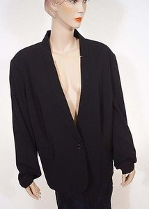 Calvin Klein Calvin Klein W3rc7143 Womens Black Lined Modern Suiting Jacket Blazer 24w Plus