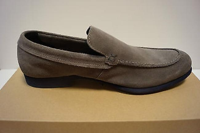 Item - Folsom Venetian Ii Charcoal Gray Suede Mens Shoes Loafer