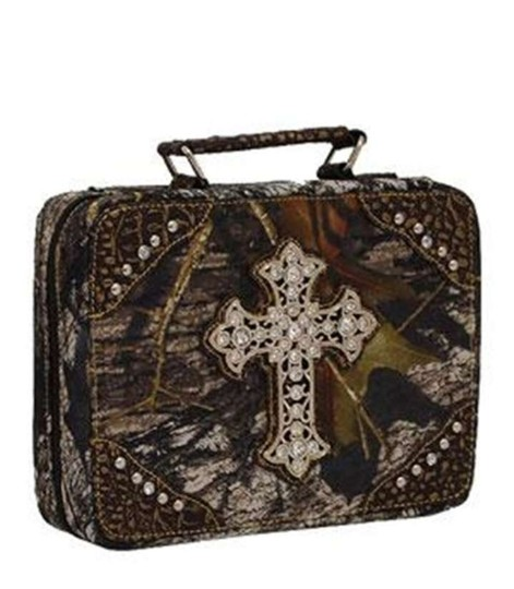 Camo Bogo Free Your Choice Rhinstone Bible Case Other