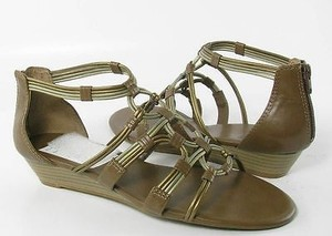 Lucky Brand Naraa Womens Otter Gladiator Brown Sandals