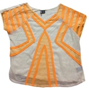 Sparkle & Fade Trend Neon Sheer Modern Funky Top
