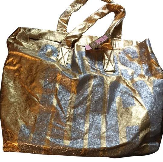 Preload https://item2.tradesy.com/images/juicy-couture-tote-bag-gold-silver-3380911-0-0.jpg?width=440&height=440