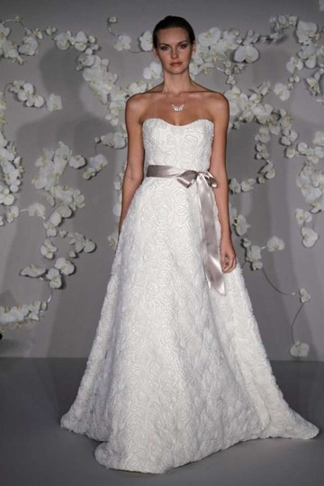 Tara Keely Ivory Tk2012 Modern Wedding Dress Size 10 (M)