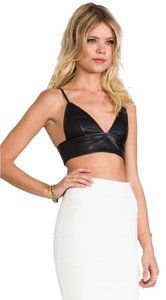 Capulet Leather Bralet Bra Let Triangle Crop Top Black