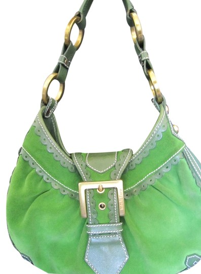 Preload https://item2.tradesy.com/images/isabella-fiore-green-leathersude-shoulder-bag-3381301-0-0.jpg?width=440&height=440