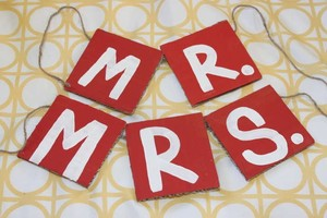 Love Always Red Mr. & Mrs Banners #800