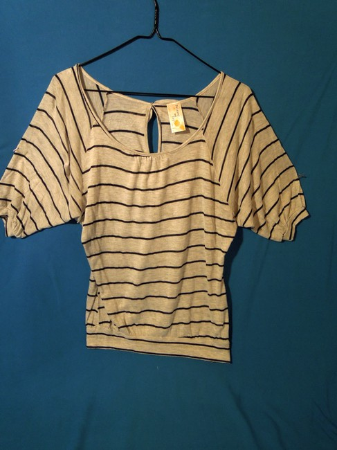 Paisley and Ivy Striped Top blue & gray
