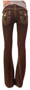 True Religion Boot Cut Pants brown
