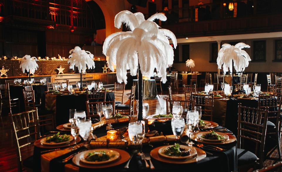 Black White 10 Ostrich Feather 28 Eiffel Tower Vases 16 18
