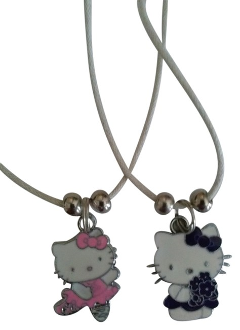 Item - White Pink Purple 2 Nwt. Charm Necklace
