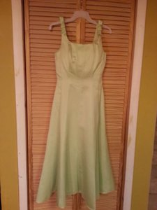Alfred Angelo Pistachio Satin 6309 Formal Dress Size 10 (M)