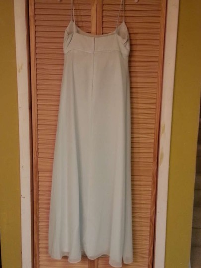 Alfred Angelo Mint Satin & Chiffon 6625 Formal Dress Size 10 (M)