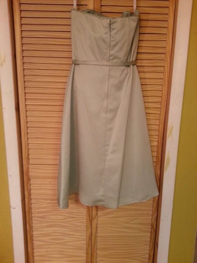 Alfred Angelo Lettuce Satin 6837 Formal Bridesmaid/Mob Dress Size 14 (L)