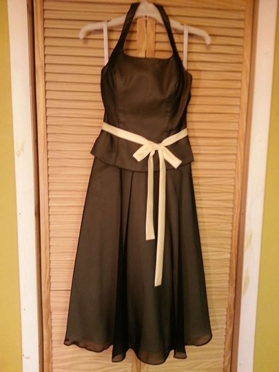 Preload https://item4.tradesy.com/images/alfred-angelo-black-butter-brown-satin-and-chiffon-6226-formal-bridesmaidmob-dress-size-6-s-338263-0-0.jpg?width=440&height=440